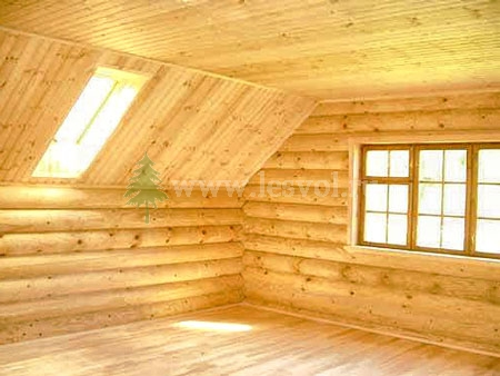Мансардный этаж в деревянном доме из ...